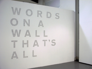 18. words on a wall