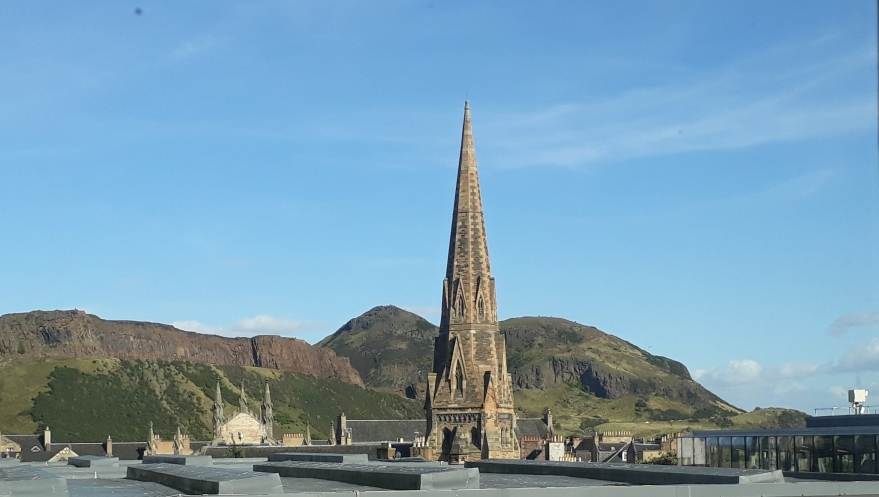view of arthur's seat, edinburgh